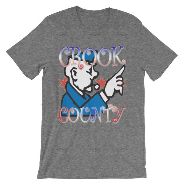 CROOK COUNTY CHICAGO ILLINOIS Unisex short sleeve t-shirt