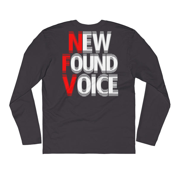 """#NOTChiraq - New Found Voice"" Double Sided Long Sleeve FITTED Crew"