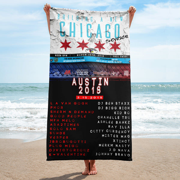 """Building A New Chicago Showcase Lineup"" Towel"