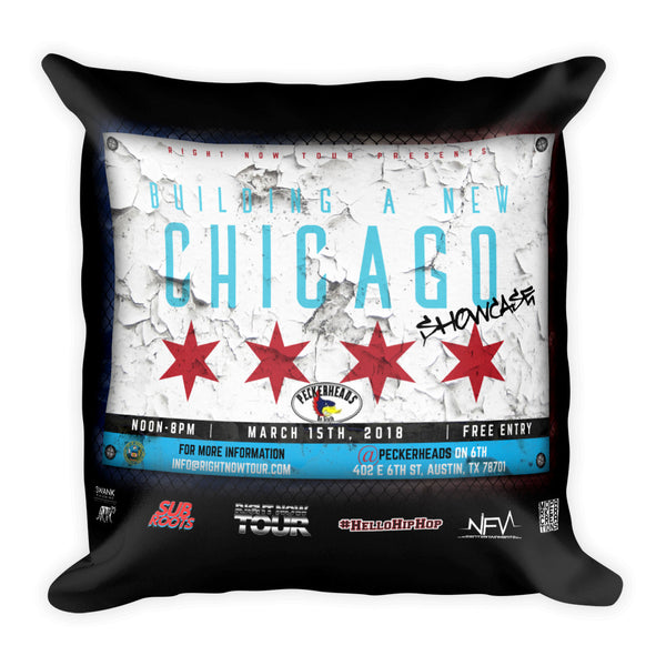 """Building A New Chicago Showcase Lineup"" Square Pillow"