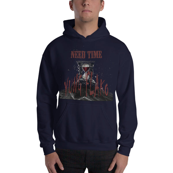 """Need Time"" by Yung Flako Debut Single Album Art Hooded Sweatshirt"
