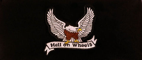 Stretch Headband-Hell On Wheels Patch on Black