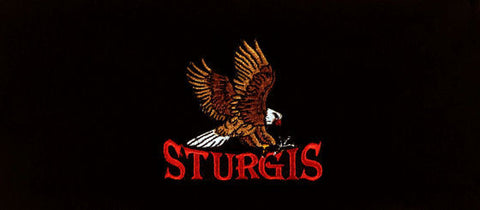 Stretch Headband-Sturgis Eagle Patch on Black