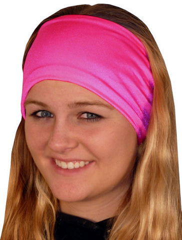 Stretch Headband-Hot Pink
