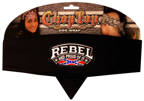 Specialty Chop Top-Rebel & Proud Of It Patch on Black