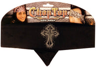 Rhinestone/stud Chop Top-Glittered Cross on Black (Imported)