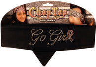 Rhinestud Chop Top-Go Girl Pink Ribbon on Black (Imported)