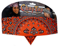 Chop Top-Orange Paisley Fleur De Lis w/Rhinestones (Imported)