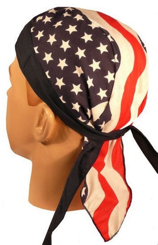 Skull Cap-Large US Flag
