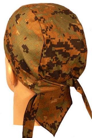 Skull Cap-Digital Green Camo