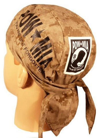 Skull Cap-POW/MIA on Digital Desert Camo