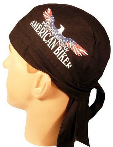 Skull Cap-Proud To Be An American Biker