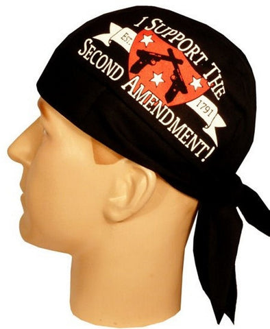Skull Cap-Second Amendment on Black