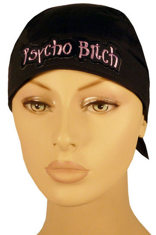 Specialty Skull Cap-Psycho Bitch Patch on Black