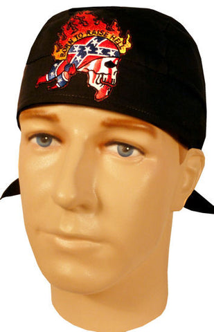 Specialty Skull Cap-Rebel Flag Born To Raise Hell Patch