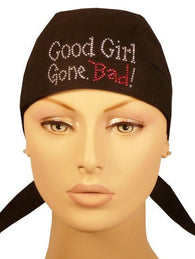 Rhinestud Skull Cap-Good Girl Gone Bad! on Blk