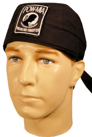 Specialty Skull Cap-POW-MIA Patch on Black
