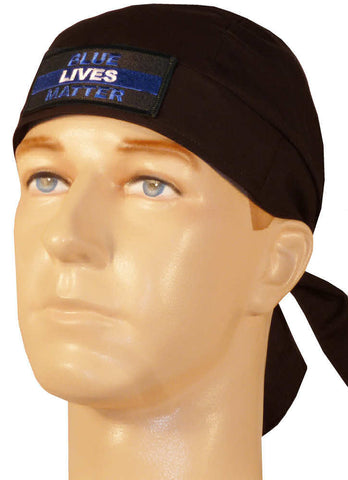 Specialty Skull Cap-Blue Lives Matter on Black