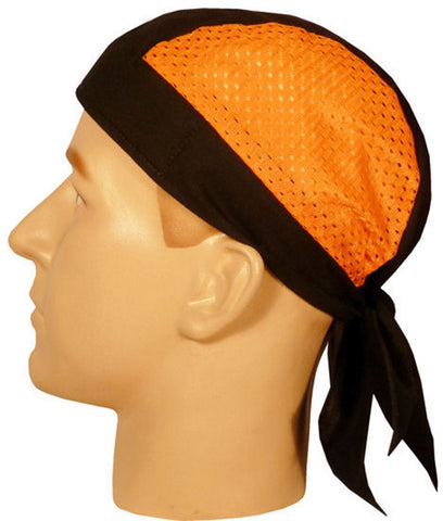 Skull Cap-Orange/Black Air Flow