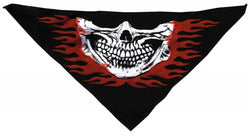 Tri Danna Mask-Skull Jaw Red Flames on Black