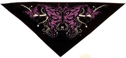 Tri-Danna Mask-Purple Butterfly on Black