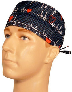 Surgical Cap-Heartbeats on Navy