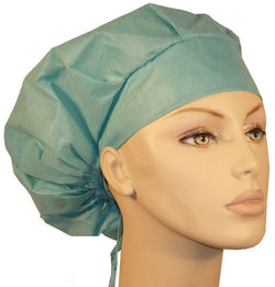 Disposable Banded Bouffant-Scrub Green 25 pcs.