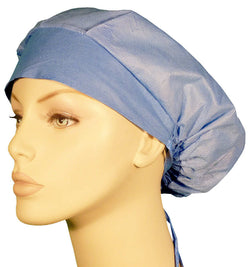 Disposable Banded Bouffant-Two Tone Ceil Blue 25 pcs.