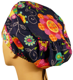 Riley Comfort Cap-Peppy Petals