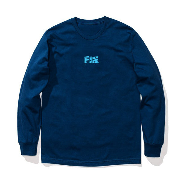 NAVY FIN DROWN IN IT  L/S TEE