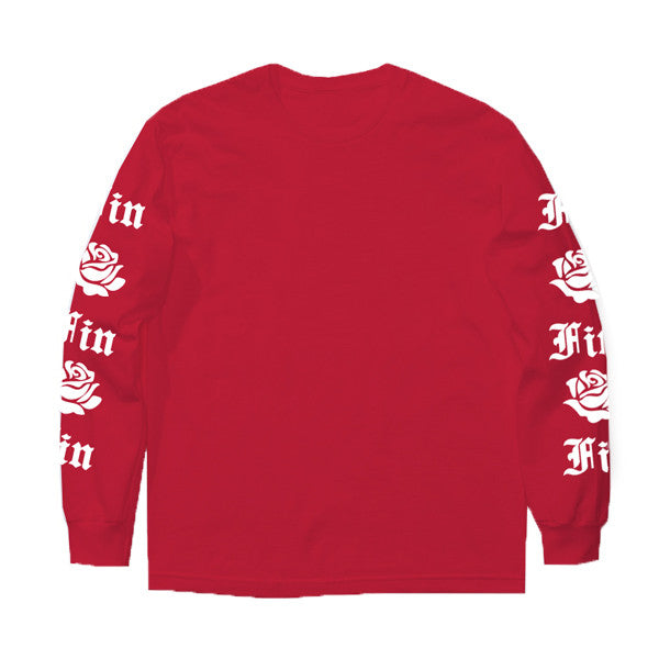 RED FIN ROSE L/S TEE