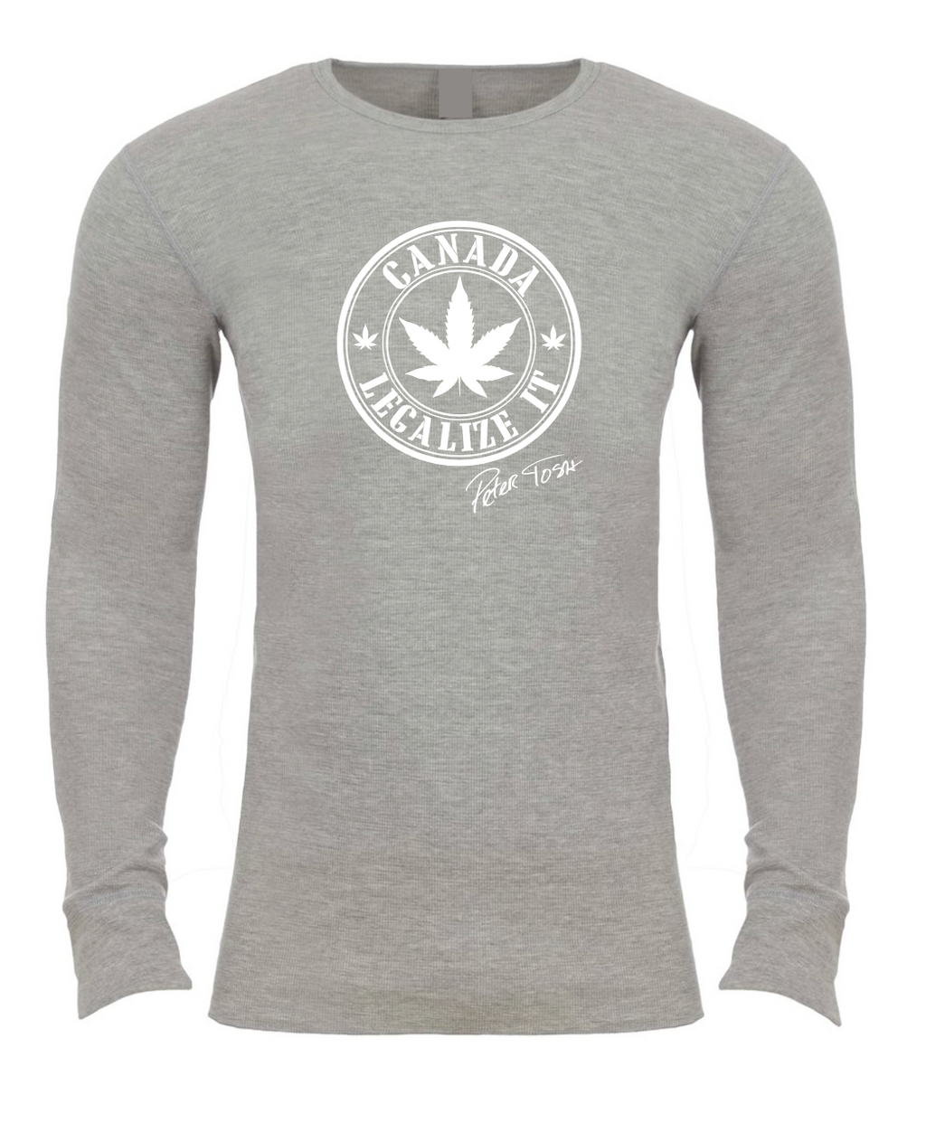 Peter Tosh Legalize It Canada Thermal - Heather Gray