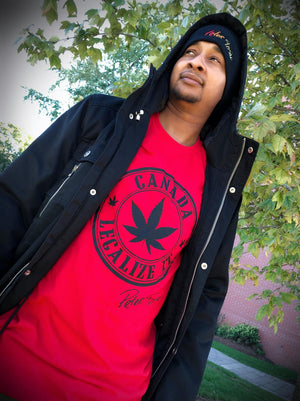 Peter Tosh Legalize It Canada Tee - Red
