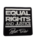 Peter Tosh Equal Rights And Justice Embroidered Patch (White)