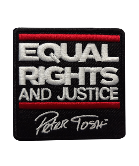 Peter Tosh Equal Rights And Justice Embroidered Patch (Red & White)