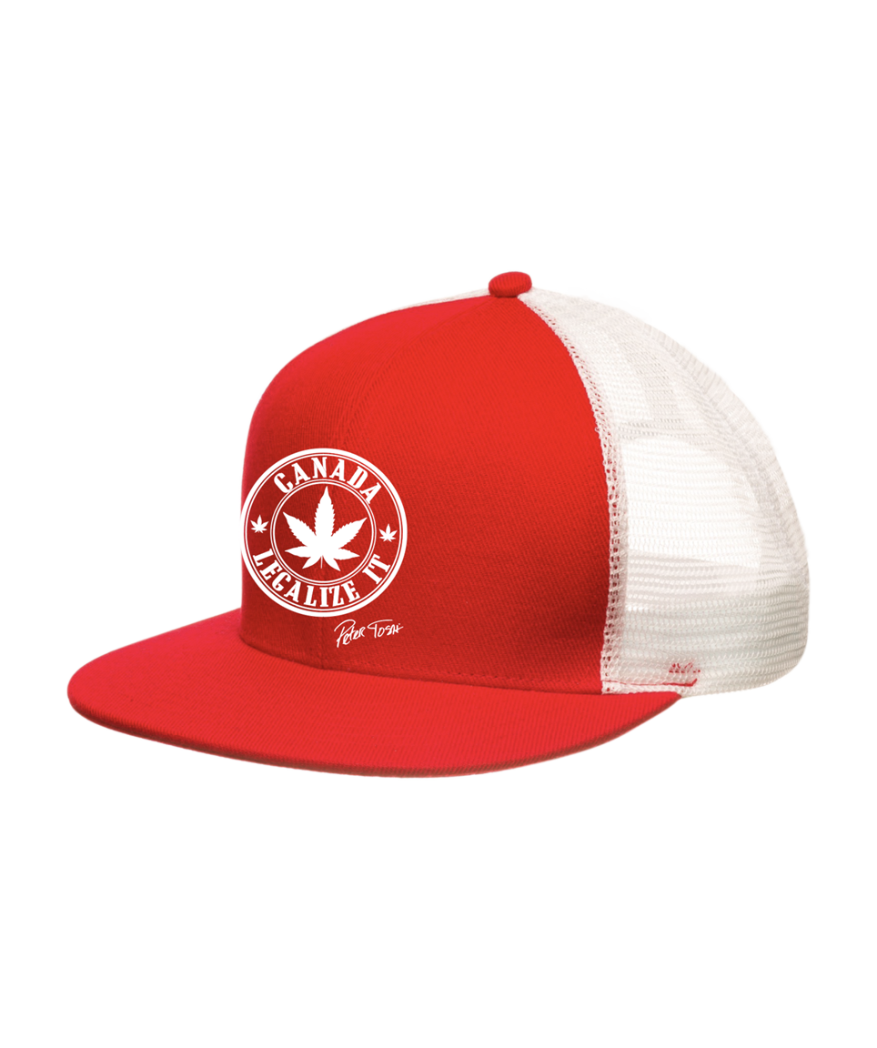 Peter Tosh Legalize It Canada Red/White Flatbill