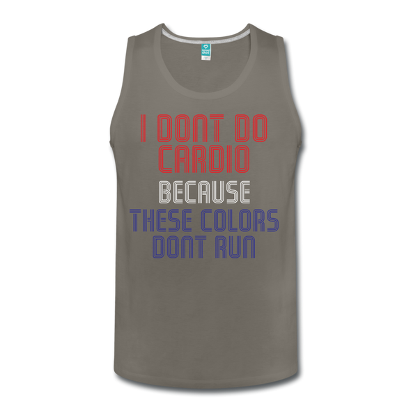 No Cardio Men's Tank - Warrior Unlimited Apparel, LLC