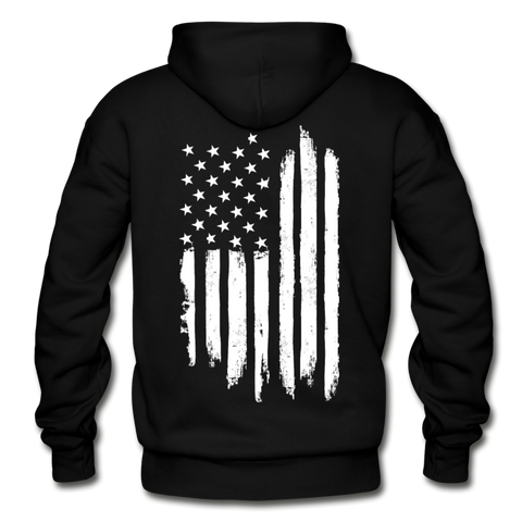 Distress US Flag Hoodie - Warrior Unlimited Apparel, LLC