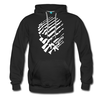 Rifle Skull Hoodie (White Skull) - Warrior Unlimited Apparel, LLC