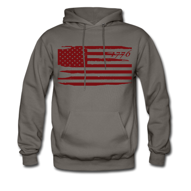 Maroon 1776 Hoodie - Warrior Unlimited Apparel, LLC