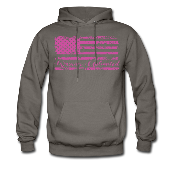 Pink Flag Hoodie - Warrior Unlimited Apparel, LLC