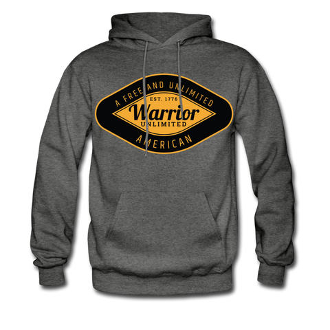 Warrior Gold Hoodie - charcoal gray