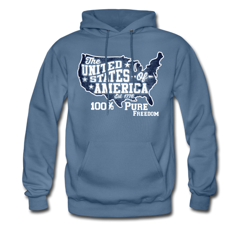 100% Pure Freedom Hoodie - denim blue