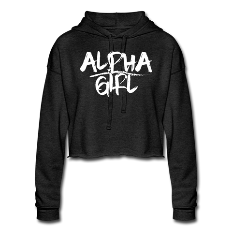 Alpha Girl Cropped Hoodie - Warrior Unlimited Apparel, LLC