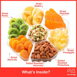 Nuts and Dried Fruits Gift Box For Her Him Family Men Women Holiday Dried Fruit and Nut Bow Food Gift Basket Prime Delivery Tomorrow Healthy Edible Arrangements regalos para navidad under 30