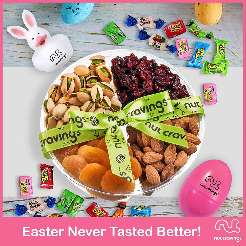 Easter Mixed Nuts & Dried Fruit Sectional Gift Box Medium (Fun & Bunnies Included!)