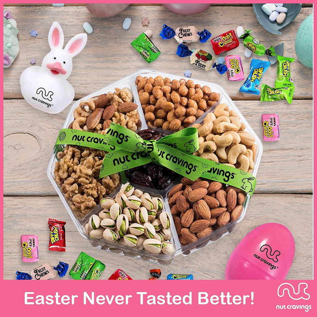 Easter Mixed Nuts Sectional Gift Box Large (Fun & Bunnies Included!)