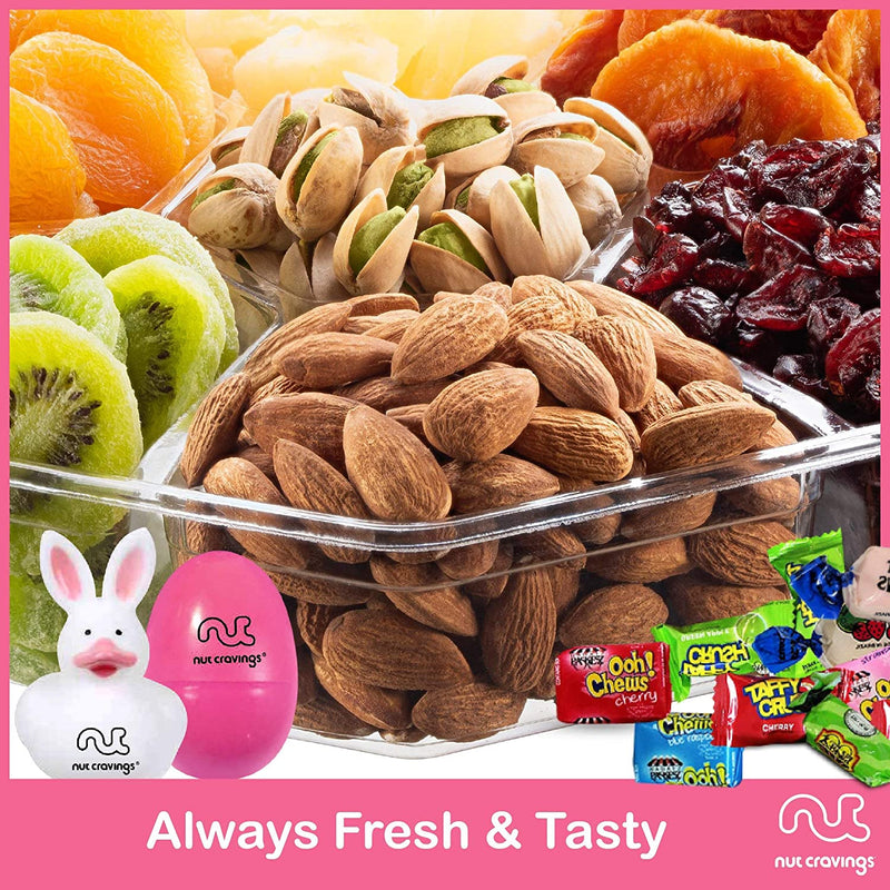 Easter Mixed Nuts & Dried Fruit Sectional Gift Box Large (Fun & Bunnies Included!)