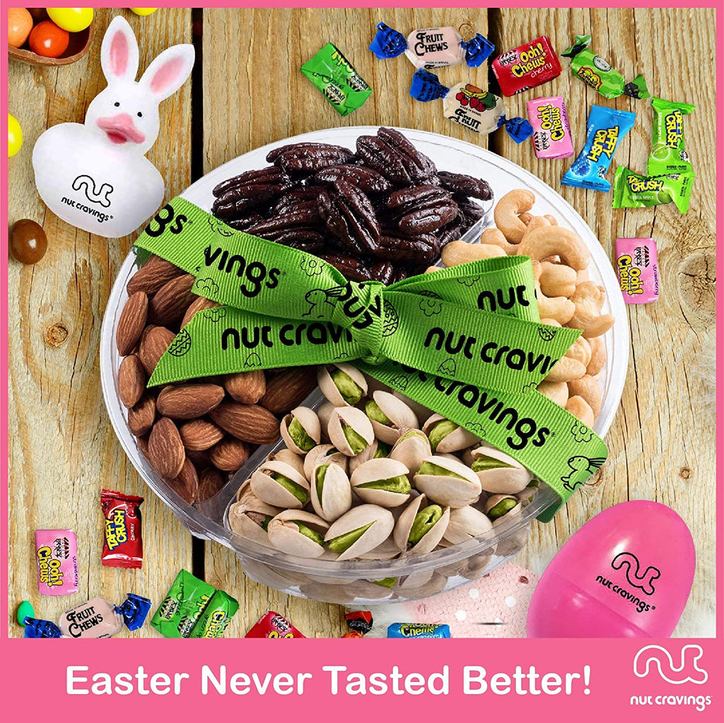 Easter Mixed Nuts Sectional Gift Box Medium (Fun & Bunnies Included!)