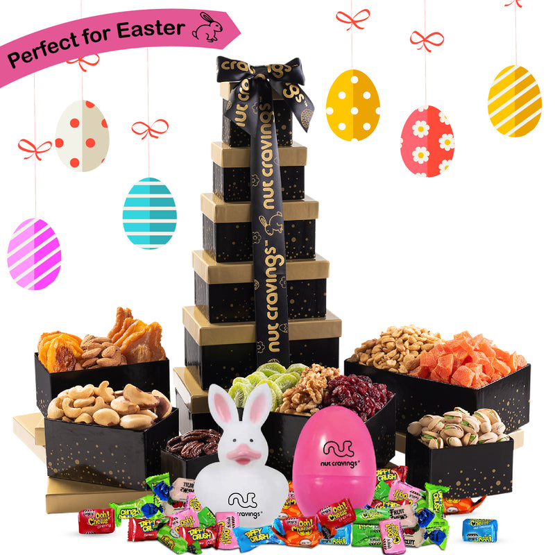 Easter Nut and Fruit Gift Tower (Fun & Bunnies Included!)